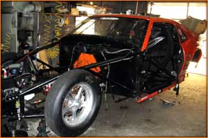The Stanley And Weiss Camaro Pro Mod Under Construction In The Shop for 2010