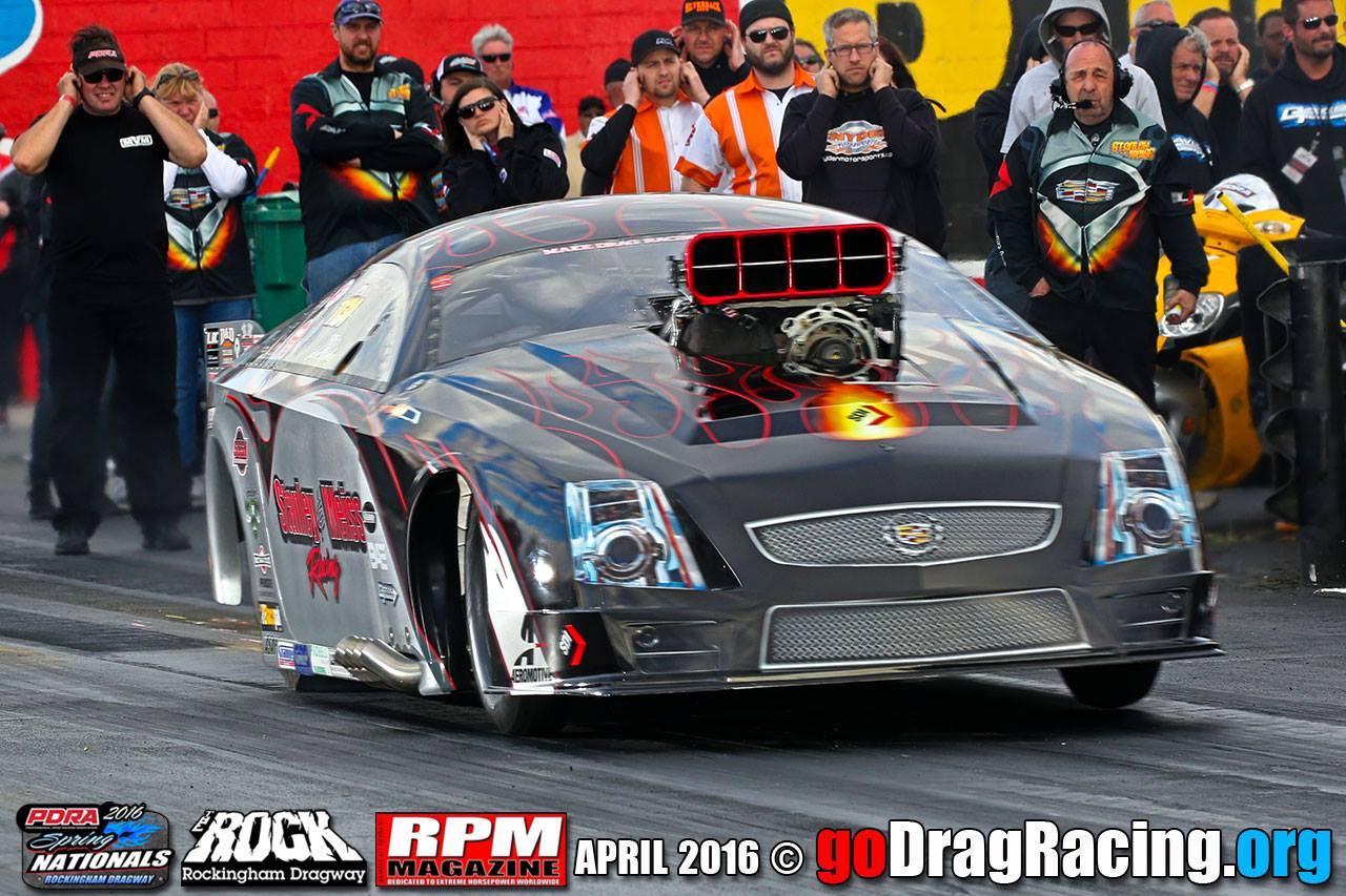 Stanley & Weiss Racing Cadillac CTSV Pro Mod Rockingham NC Hard Launch