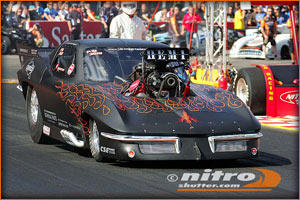 Marcus Hilt Trouble Racing Corvette Pro Mod Getting ready to rock and roll!