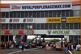 John gets ready for another qualifier at the beautiful Royal Purple Raceway in Baytown, Texas.