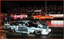 John Stanley Faces The National Guard ADRL 57 Chevy With The Clutch Not Set Right But Made A Race Out Of It