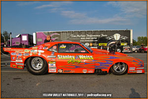 The Pro Modified Camaro Posed With The Tim McAmis Chassis Builder Trailer at The YB Nats 2011